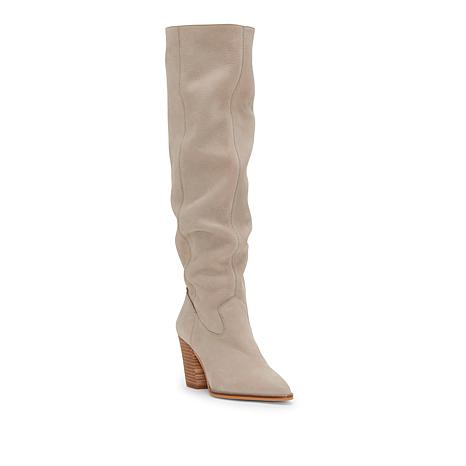 Lucky Brand Azoola Leather or Suede Tall Slouch Boot