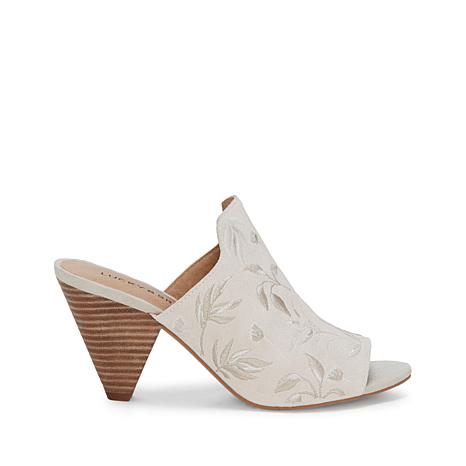 Lucky Brand Emree Suede Embroidered Cone-Heel Sandal