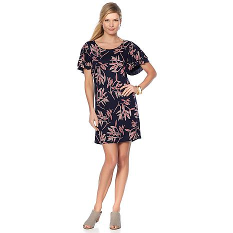 Lucky Brand Ruffle-Sleeve Tunic Dress