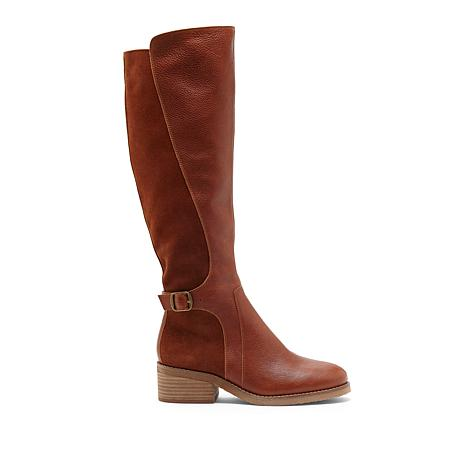 Lucky Brand Timinii Leather and Suede Tall Shaft Boot