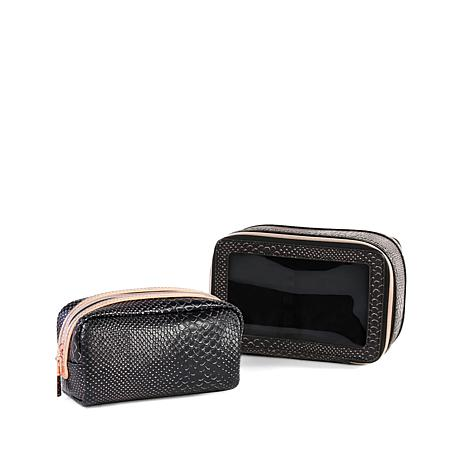 Luke Henderson Carry-All & Small Cosmetic Case - Black