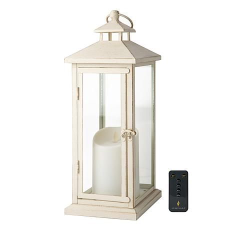 Battery-operated lantern. How to decorate or style your entry way.