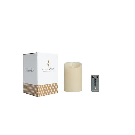 "Luminara 4"" Unscented Wax Flameless Candle with Remote and Gift Box"