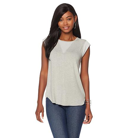 LYSSE Valencia Top with Chiffon Trim - Missy