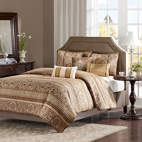 Madison Park Bellagio 6-Piece Coverlet Set - King/Brown Jacquard