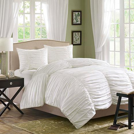 Madison Park Delancey Comforter Set Queen White