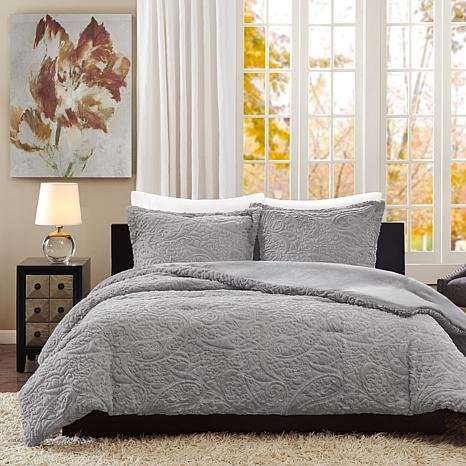 Madison Park Embroidered Comforter Mini Set - Twin