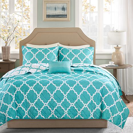 Madison Park Essentials Merritt Coverlet Set - F/Q/Aqua
