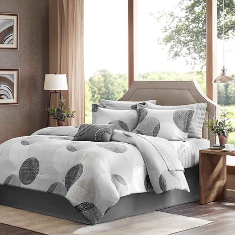 Madison Park Knowles 9pc Bedding Set - King/Gray