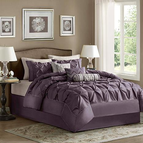 Madison Park Laurel Comforter Set California King Plum