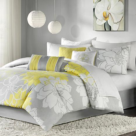 58efc295b4 Madison Park Lola Comforter Set Queen Gray Yellow - 7198130