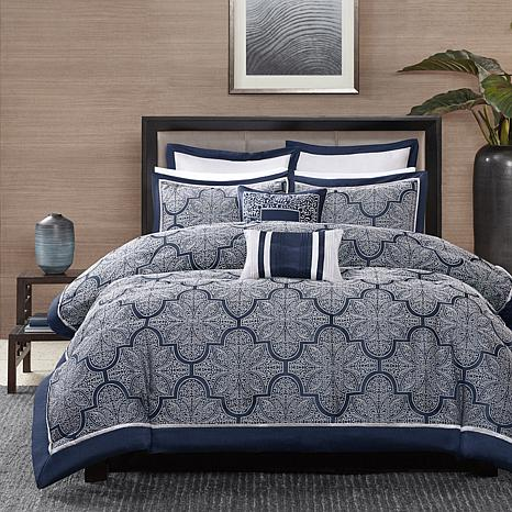 madison park medina navy comforter set - Navy Bedding
