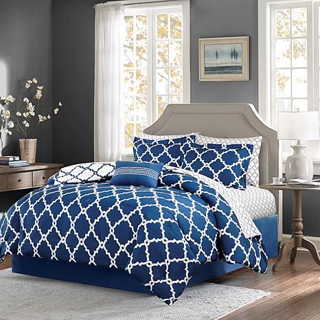 Madison Park Merritt 9pc Bedding Set - Full/Navy
