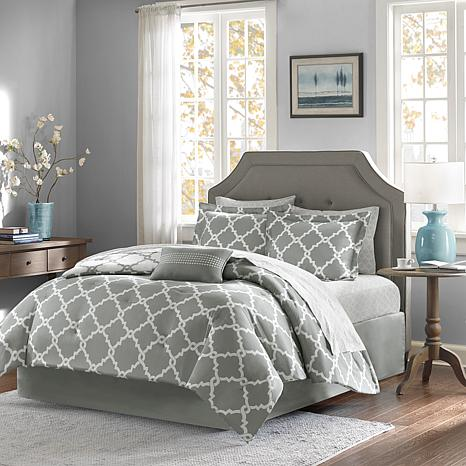 Madison Park Merritt 9pc Bedding Set - Queen/Gray