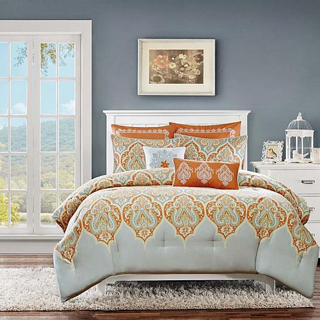 Madison Park Nisha Orange Comforter Set - Full/Queen