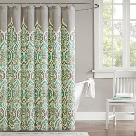 "Madison Park Nisha Shower Curtain - Teal/72"" x 72"""