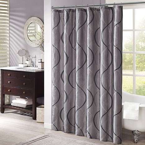 Madison Park Serendipity Shower Curtain - Charcoal/72""
