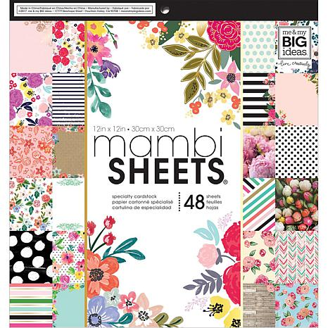 Mambi Single-Sided Paper Pad 12 x 12 48-pack - Botanicals