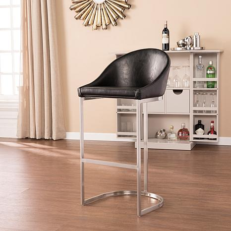 Manus Faux Leather Transitional Style Barstool