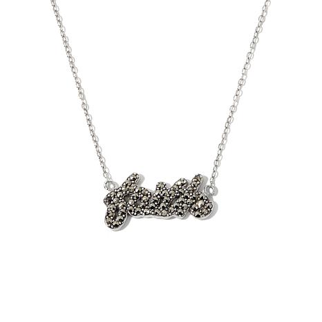 Marcasite sterling silver faith 18 cable chain necklace 8696181 marcasite sterling silver faith 18 cable chain necklace mozeypictures Gallery