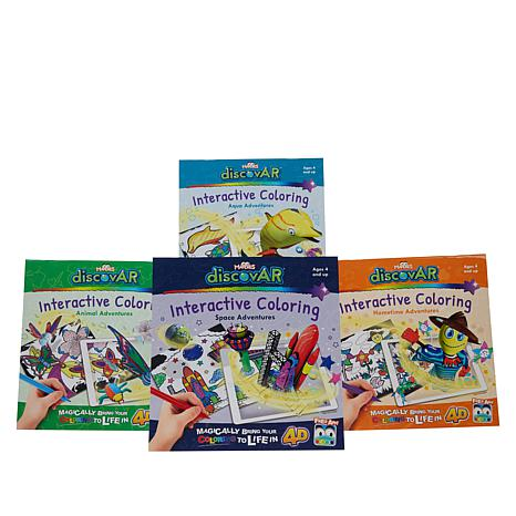 Mardles discovAR Interactive Coloring Books - Set of 4