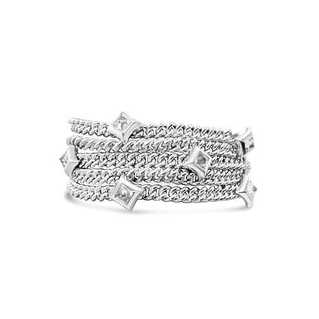 Margo Manhattan Sterling Silver Amethyst 5-Row Bracelet