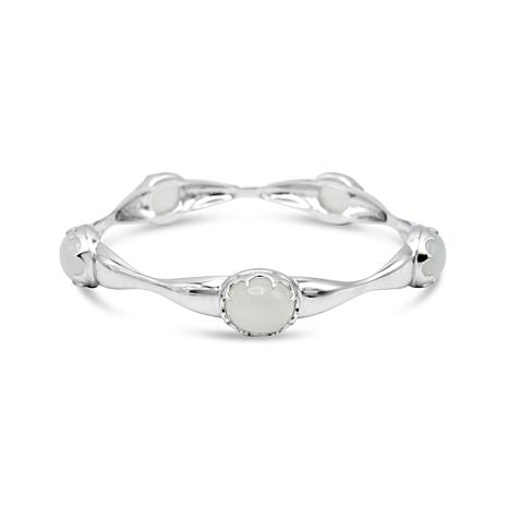 Margo Manhattan Sterling Silver Moonstone Bangle Bracelet