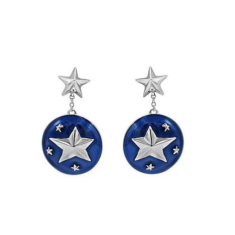 Margo Manhattan Sterling Silver Star Dangle Earrings