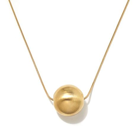 """MarlaWynne 36"""" Snake Chain Ball Necklace"""