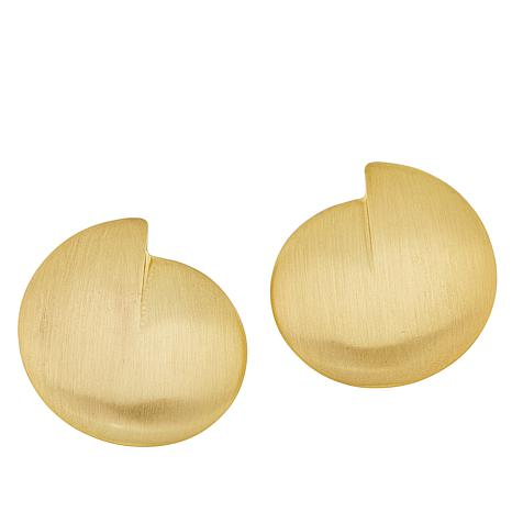 MarlaWynne Abstract Matte Bypass Stud Earrings