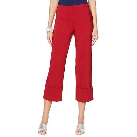 MarlaWynne Cropped FLATTERfit Pant with Cuff