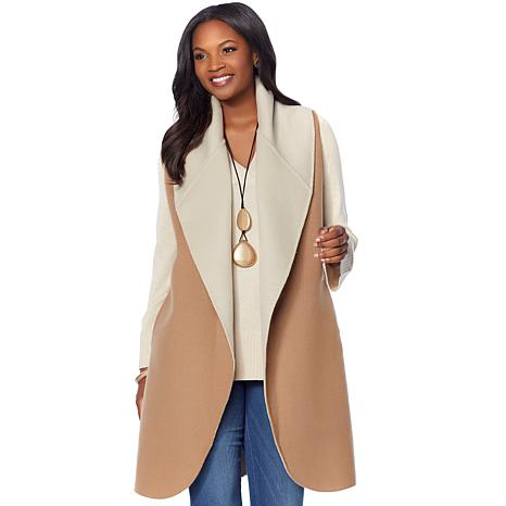 MarlaWynne Double Faced Drama Vest