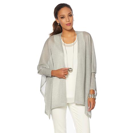 MarlaWynne Draped Sweater Knit Cardigan