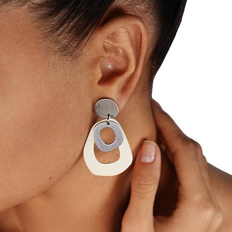 MarlaWynne Open Design Abstract Drop Earrings