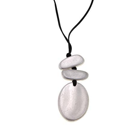 MarlaWynne Oval Pendant Necklace