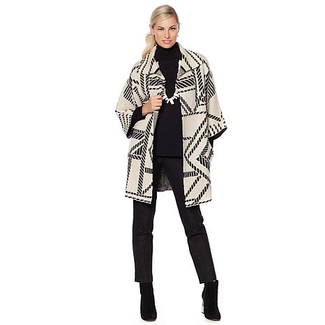 MarlaWynne Patterned Sweater Coat with Pockets