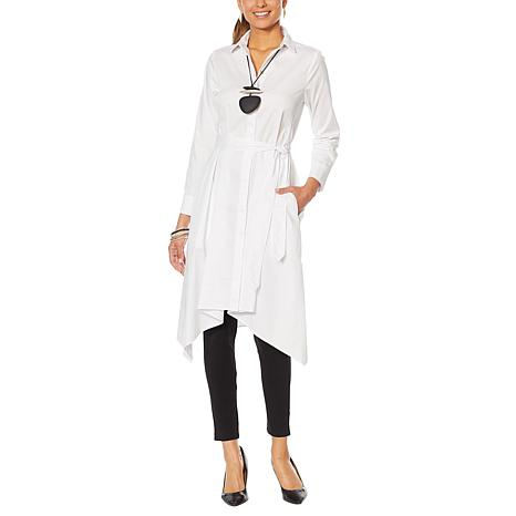 MarlaWynne Poplin Drama Shirt Dress