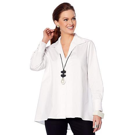 MarlaWynne Poplin Shirt with Button Detail