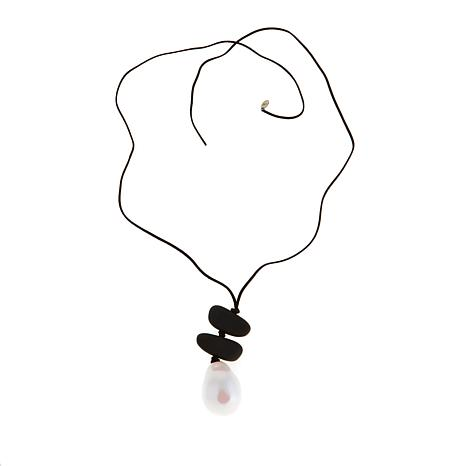 MarlaWynne Simulated Pearl Drop Necklace