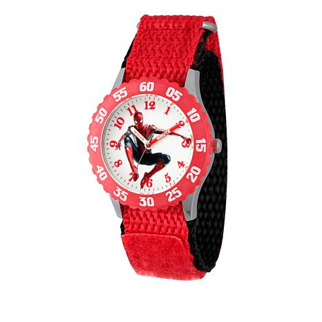 Marvel Spider-Man Kid's Time-Teacher Watch with Red Strap