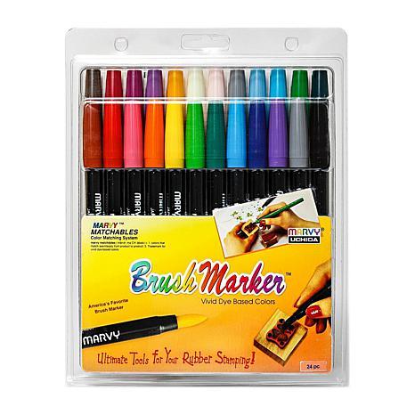 Marvy Uchida Brush Marker Set of 24