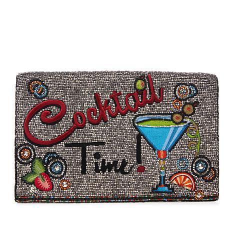 Mary Frances Beaded Cocktail Time Crossbody