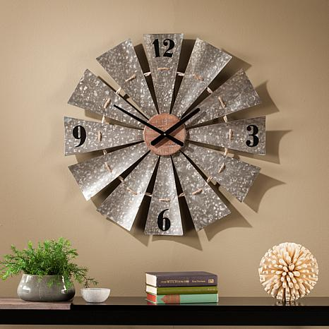 Masterson Oversized Decorative Windmill Wall Clock