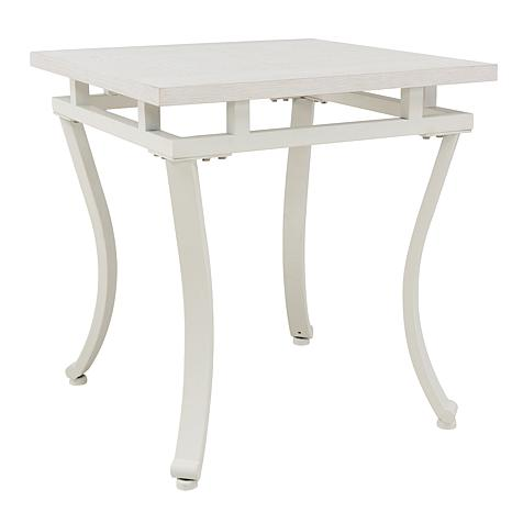 Mayron Square End Table - White