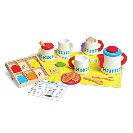 Melissa & Doug Steep & Serve Wooden Tea Set