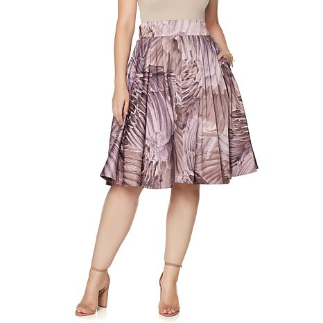 Melissa McCarthy Seven7 Pleated Full Skirt - 8086871 | HSN