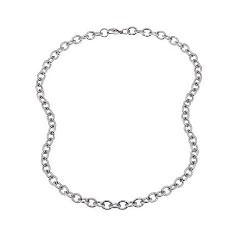 "Men's Stainless Steel Multi Oval Link 20"" Necklace"