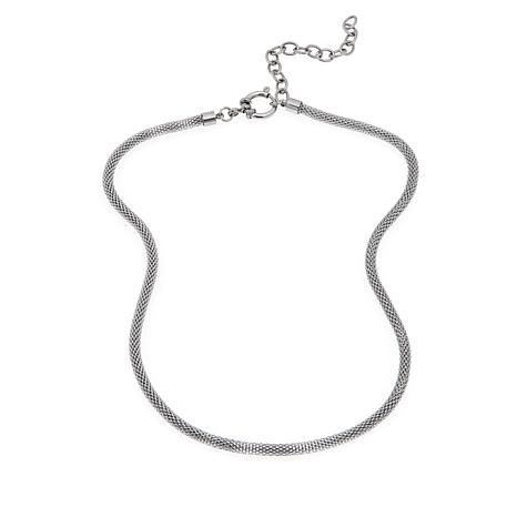 "Men's Stainless Steel Popcorn Chain 18-1/2"" Necklace"