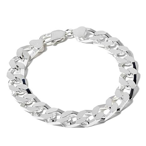 Men S Sterling Silver Curb Link Bracelet