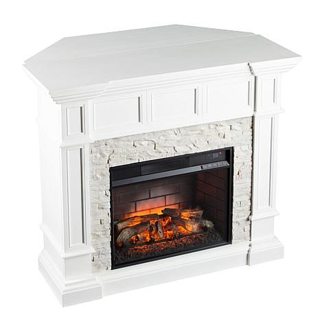 Merrimack Corner Convertible Infrared Electric Fireplace